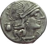 obverse:  Sex. Pompeius Fostlus. Denario, 137 a.C.