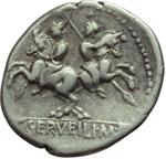 reverse:  C. Servilius M.f. Denario, 136 a.C.