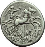 reverse:  M. Marcius Mn. f. Denario, 134 a.C.
