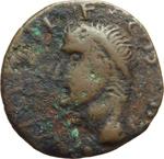 obverse:  Agrippa (deceduto nel 12 d.C.). I Germani. Imitazione gallo-renana dell asse.