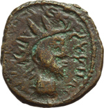 obverse:  Tetrico I (270-273). Gallia. Imitazione di antoniniano.