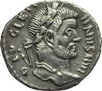 obverse:  Diocleziano (248-305) Limes danubiano. Imitazione di argenteo.