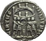 reverse:  Diocleziano (248-305) Limes danubiano. Imitazione di argenteo.