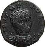 obverse:  Licinio I (308-324). Limes danubiano. Imitazione di follis.