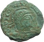 obverse:  Costantino I (307-337). Limes danubiano. Imitazione di follis.