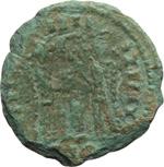 reverse:  Costantino I (307-337). Limes danubiano. Imitazione di follis.
