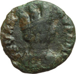 obverse:  Gli Ostrogoti in Italia. Decanummo, Ravenna, 518-540.