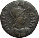 obverse:  Gli Ostrogoti in Italia. Da Teodorico ad Atalarico. Follis da 40 nummi, 512-522. Roma, emissione municipale.