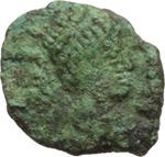 obverse:  Gli Ostrogoti in Italia. Atalarico (526-534). Nummo in nome di Giustiniano I (?), Roma.