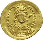 obverse:  Anastasio I (491-518). Solido, Costantinopoli.