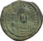 obverse:  Maurizio Tiberio (582-602). Follis, Costantinopoli.
