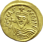 obverse:  Focas (602-610). Solido, Costantinopoli.