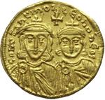 obverse:  Costantino V Copronymus (741-775). Solido, Costantinopoli.