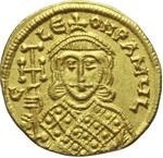 reverse:  Costantino V Copronymus (741-775). Solido, Costantinopoli.