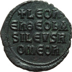 reverse:  Leone VI (886-912). Follis, Costantinopoli.