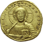 obverse:  Costantino VII e Romano I (920-944). Solido, Costantinopoli.