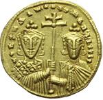 reverse:  Costantino VII e Romano I (920-944). Solido, Costantinopoli.
