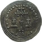 obverse:  Basilio II (976-1025) Miliarense.