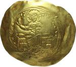 obverse:  Alessio I (1081-1118). AU hyperpyron, Costantinopoli.