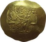 obverse:  Giovanni II (1118-1143). AU hyperpyron, Costantinopoli.