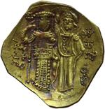 reverse:  Giovanni III di Nicea (1222-1254). AU hyperpyron, Magnesia.