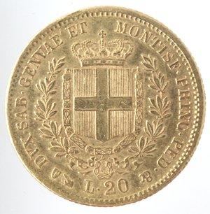 Casa Savoia. Vittorio Emanuele II. 1861-1878. 20 Lire 1856 Genova. Au. Gig. 11. Peso gr. 6,44. qSPL.