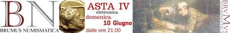 Banner Brumus Numismatica Asta IV