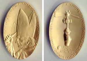 obverse image: Vaticano 1975. PAOLO VI. Anno Santo, chiusura porta santa. Bu (107 gr. – 45x80 mm.). FDC. NC.