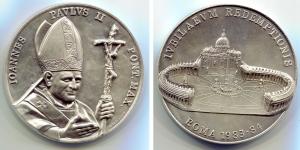 obverse image: Vaticano. Giovanni Paolo II. Giubileo. Roma 1982-1983. Mi (62 mm.). Grossa medaglia molto affascinante e dall'ottima conservazione.