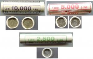 D/ Italia. Lotto 03 rotolini: Rotolino L. 200 1978 - 50 pezzi. FDC. Rotolino L. 100 1996 - 50 pezzi. FDC. Rotolino L. 50 del 1996 - 50 pezzi. FDC.