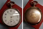 """D/ Orologio da Tasca primi '900 """"L. fernier Et Freres A Besancon"""", in oro AU (71,60 gr. – 49 mm.). Meccanico (15 rubini), funzionante, cassa al retro lavorata. Davvero molto affascinante."""