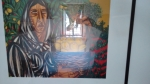 D/ Giuseppe Migneco, Raccoglitrice di limoni, serigrafia su carta cm 70x90 PROVA D'AUTORE, firma in basso a destra. Certificato di Garanzia e Autenticità della Meeting Art Casa d'Aste Vercelli del 20.06.2000