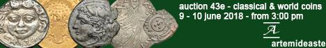 Banner Artemide Aste - Asta Numismatica 43E