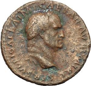 obverse: Galba (68-69).  AE As, Rome mint,. Obv. SER SVLPI GALBA IMP CAESAR AVG PM TR P. Laureate head right. Rev. AEQVITAS AVGVSTI SC. Aequitas standing half-left, holding scales and sceptre. RIC 494. AE. g. 9.75  mm. 28.00  R. Rare. Brown patina with green spots. VF.