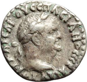 obverse: Vespasian (69-79).  AR Hemidrachm, Caesarea mint, Cappadocia. Obv. Laureate head right. Rev. Nike advancing right, holding wreath and palm. BMC 20. 47,17. AR. g. 1.68  mm. 14.00    VF.