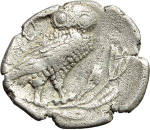 reverse: Italy. Northern Lucania, Velia.   AR Drachm, 440-400 BC. Obv. Head of nymph right, with hair arranged in set waves.  HN Italy 1272. AR. g. 3.63   R. Rare. Lightly porous. Prettily toned. VF.