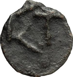 reverse: Greece. Moesia, Istros.   AE Wheel coin, late 5th century. Obv. Wheel (or solar disk). Rev. IΣT. SNG Black Sea 223-224. AE. g. 1.10  mm. 13.00    VF.