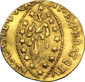 R/  Contraffazione dello zecchino, a nome di Paolo Renier.     AU. g. 3.66   R.  qSPL.