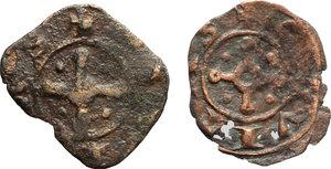 D/ Tripoli.  Lotto di 2 monete in AE, circa 1200.     AE.