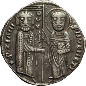 Venezia. Pietro Ziani (1205-1229). Grosso matapan.    Paol. 1. AG. g. 2.15  mm. 21.00    qSPL/SPL.