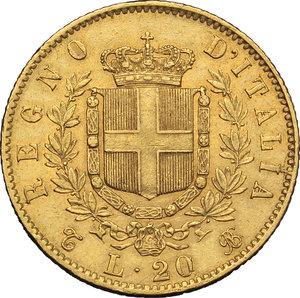 reverse: Regno di Italia. Vittorio Emanuele II (1861-1878). 20 lire 1862.    Pag. 456. AU.      BB.
