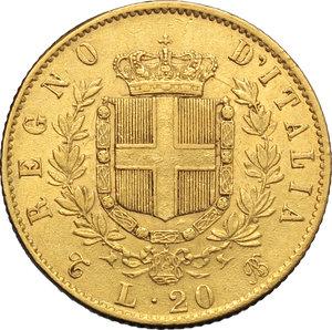 reverse: Regno di Italia. Vittorio Emanuele II (1861-1878). 20 lire 1865.    Pag.459,  Mont.135. AU.      FDC.