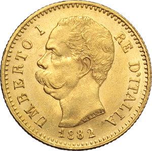 obverse: Regno di Italia. Umberto (1878-1900). 20 lire 1882.    Pag. 578. Mont.16. AU.      FDC.
