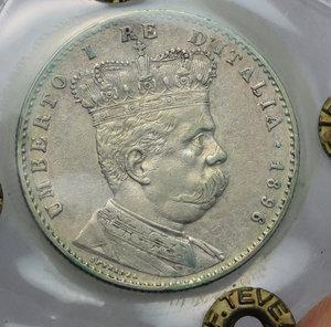 obverse: Colonia Eritrea. Umberto I (1890-1896). 2 lire 1896.    Pag. 633. Ag.    R. Perizia Tevere (BB/SPL) BB+.