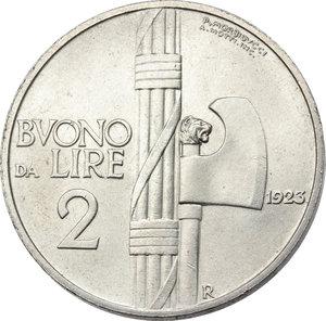 reverse: Regno di Italia. Vittorio Emanuele III (1900-1943). 2 lire 1923.    Pag. 741. Mont. 161. NI.   mm. 29.00    SPL+.