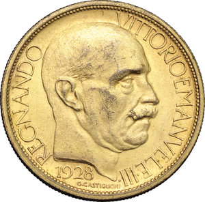 obverse: Regno di Italia. Vittorio Emanuele III (1900-1943). 2 lire 1928 Fiera di Milano.    Mont. 09. Metallo dorato.      Bel BB.