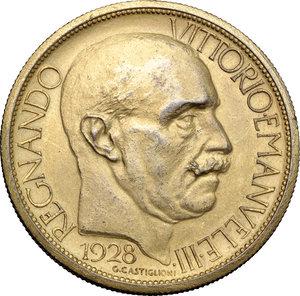 obverse: Regno di Italia. Vittorio Emanuele III (1900-1943). 2 lire 1928 Fiera di Milano.    Mont. 09. Metallo dorato.      qSPL.