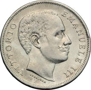 obverse: Regno di Italia. Vittorio Emanuele III (1900-1943). Lira 1901.    Pag. 763. Mont. 188. AG.     Bel BB.