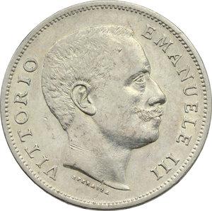 obverse: Regno di Italia. Vittorio Emanuele III (1900-1943). Lira 1907.    Pag. 767. Mont. 192. AG.      BB/BB+.