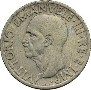 obverse: Regno di Italia. Vittorio Emanuele III (1900-1943). 1 lira 1936.    Pag. 789. Mont. 218. NI.    R.  qBB/BB.